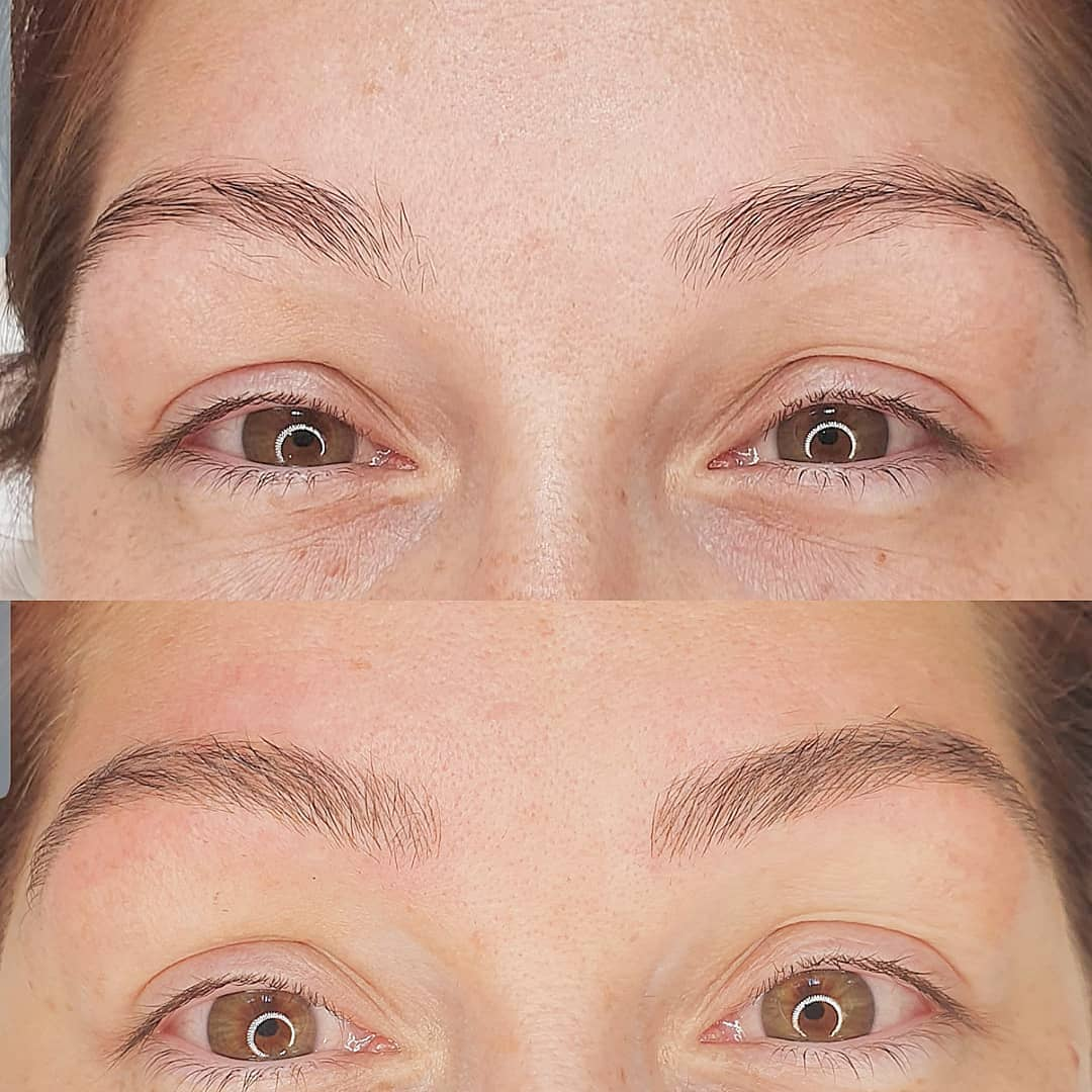 Brows completed by one of my trainees