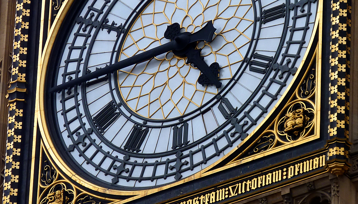 Detail of Big Ben's clock - (or 'Large Ben' as I genuinely heard a tourist say)