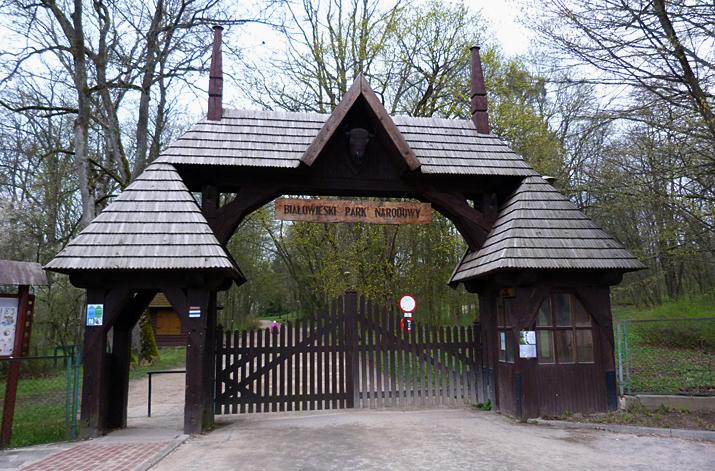 Bialowieza Town Park gates.