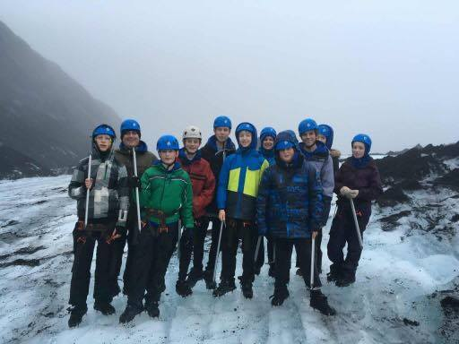 Me and the Beaucamps crew on the glacier.