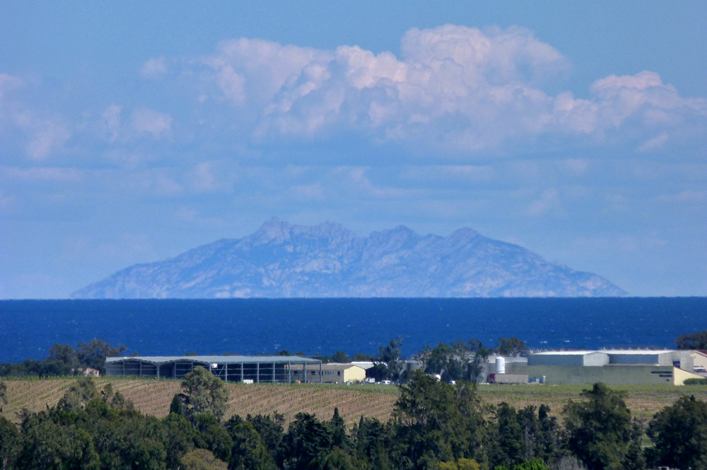 The island of Montecristo from Aleria Fort - (there was definitely just one....)