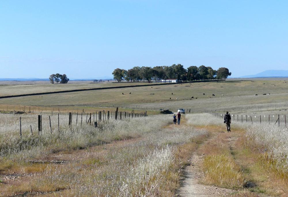 Walking back down the track SE of Santa Marta de Magasca, 12 Apr 19