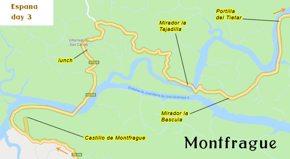 Locations in Montfrague Park