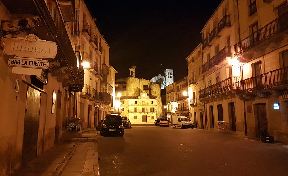 Sepulveda town at night, 15 Apr 19