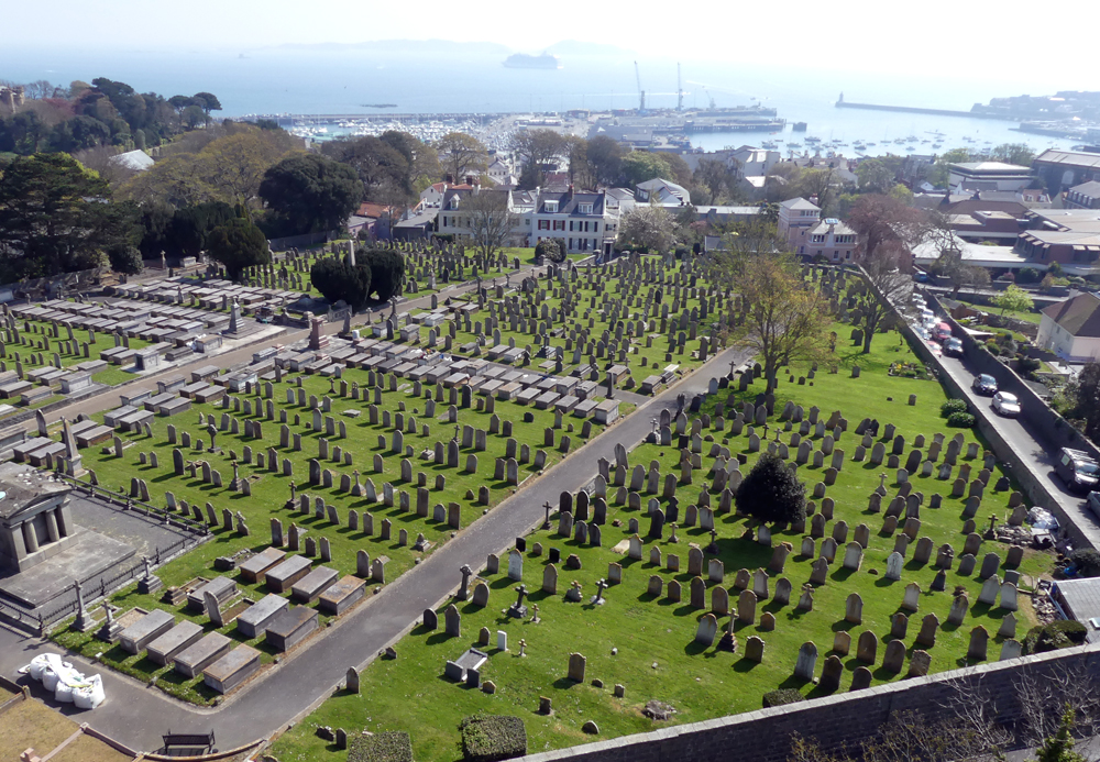 Candie Cemetery from Victoria Tower, Apr 19