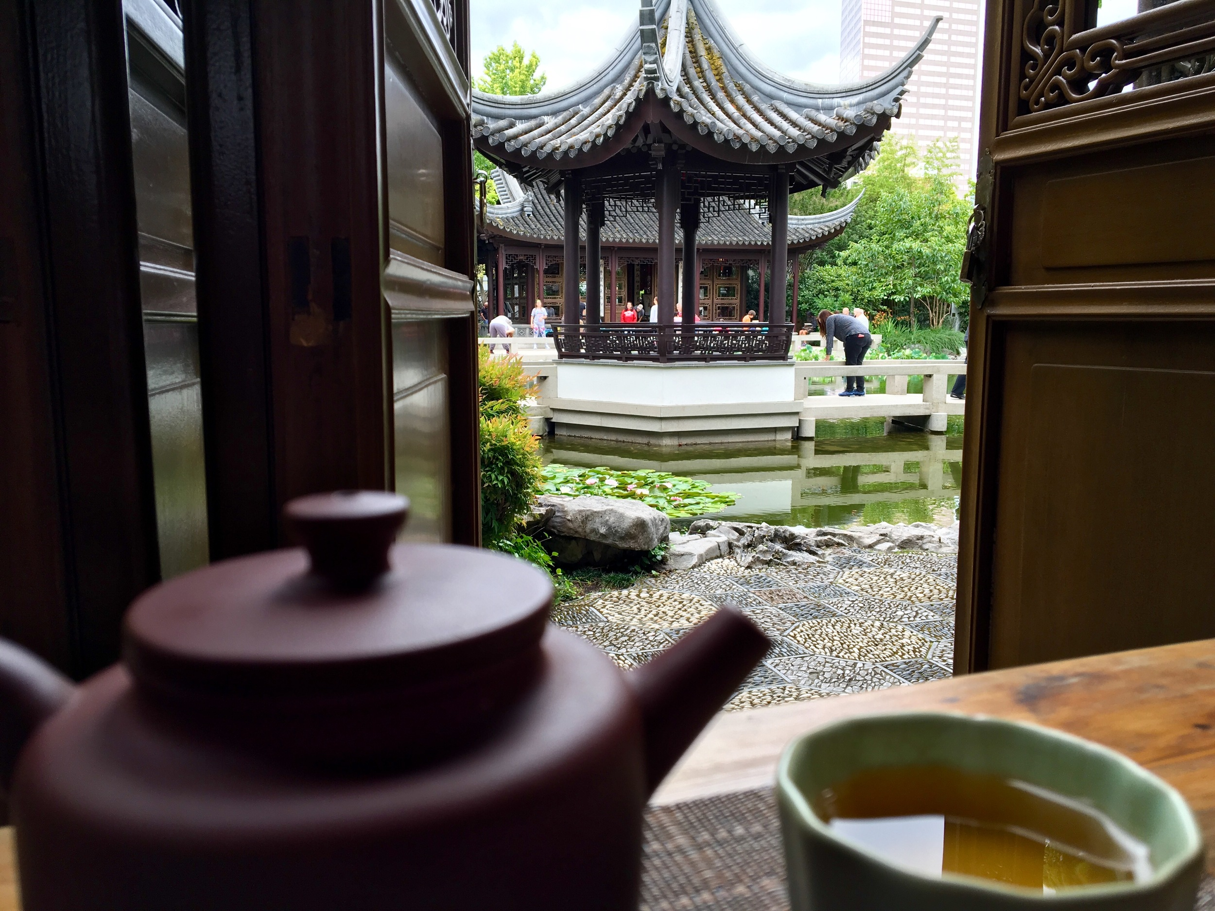 Portland Chinese Garden. Great way to start the day.