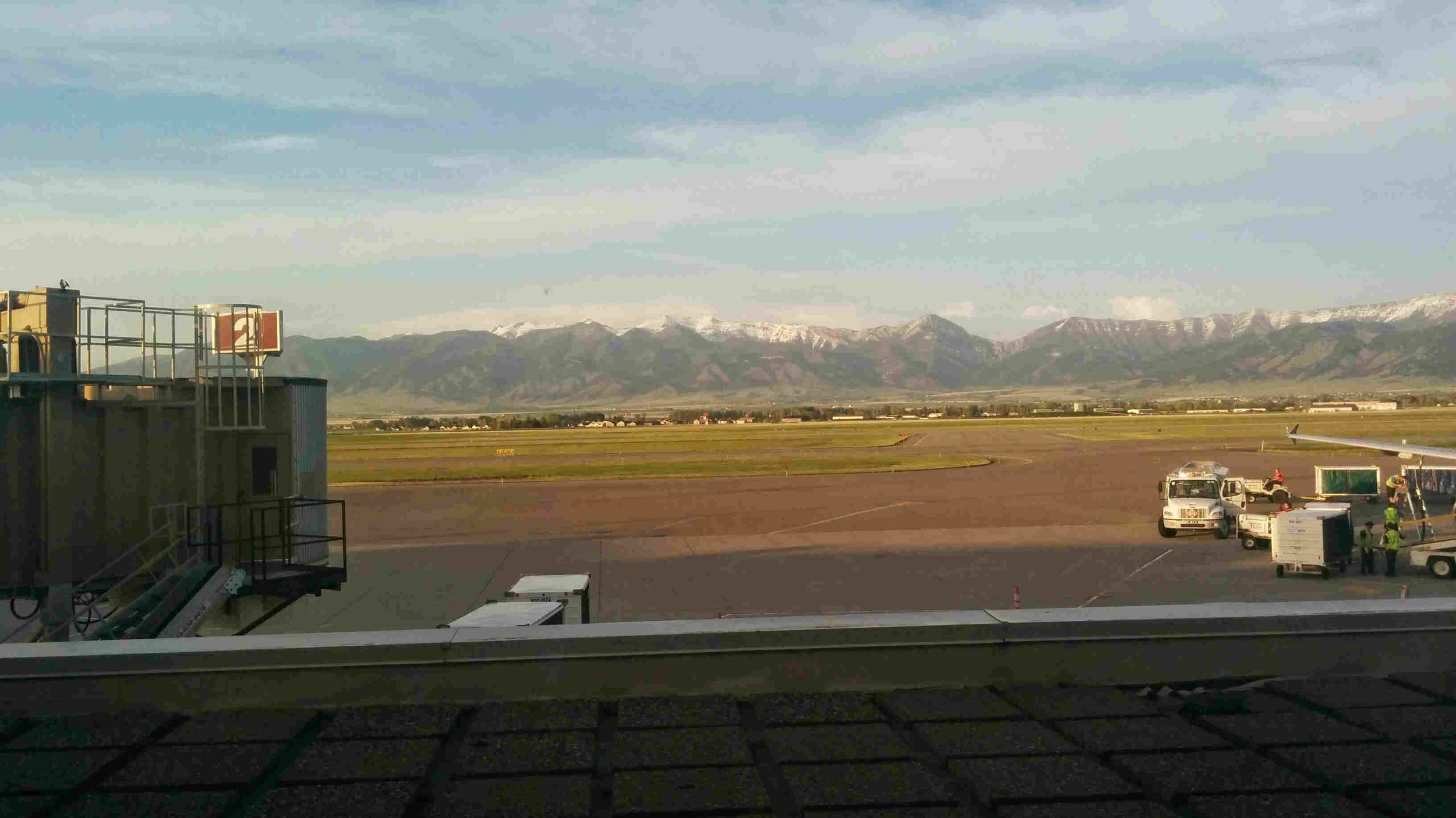 The view that greets you at the Bozeman airport