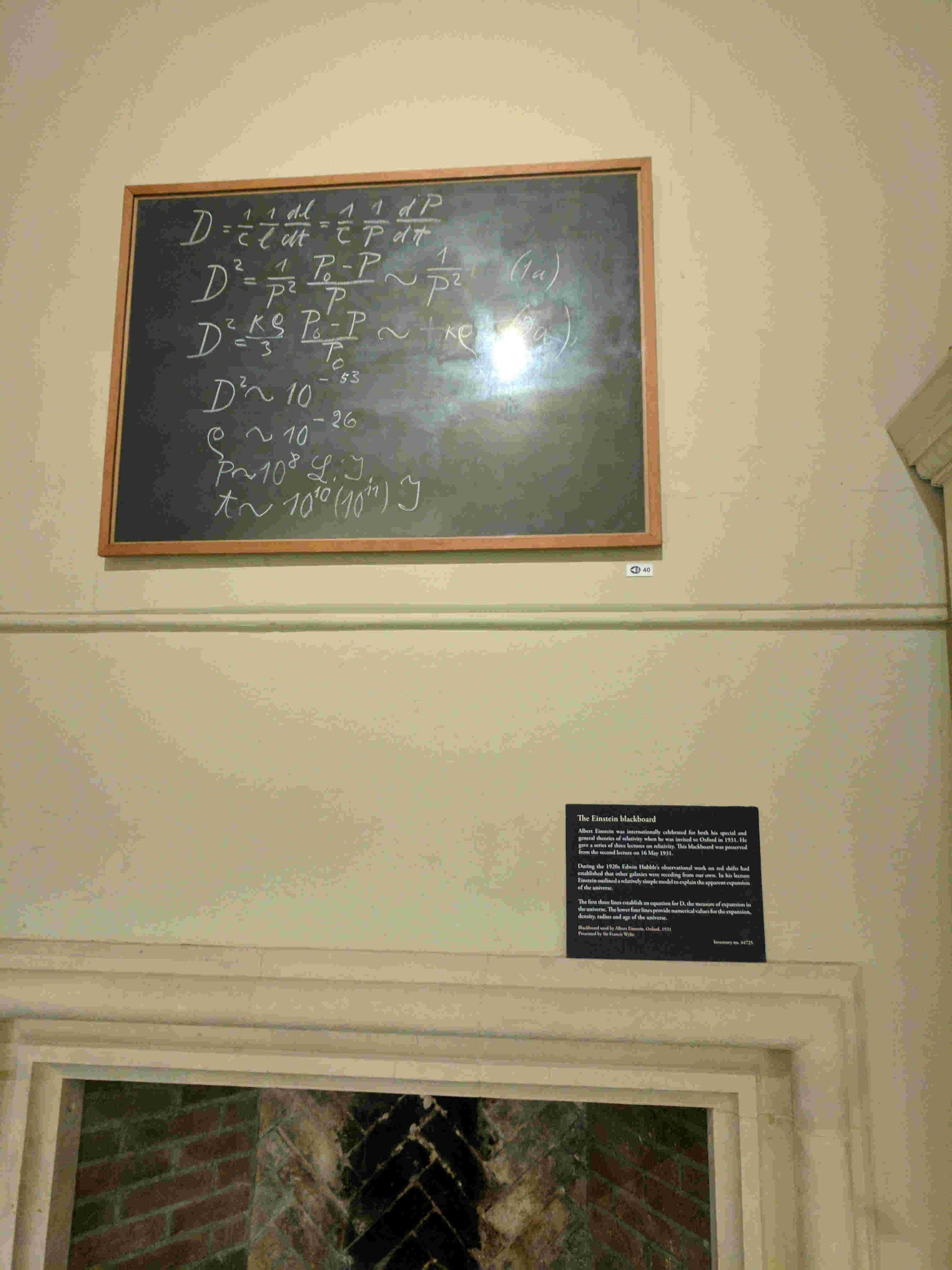 The Einstein Blackboard