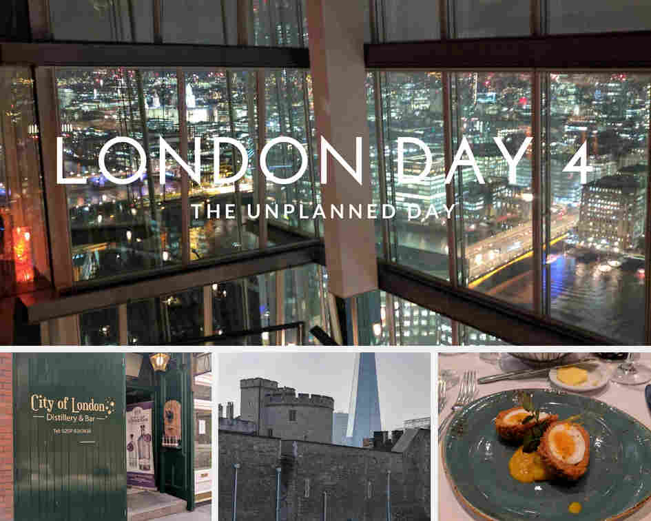 Shots from the shard, City of London Distillery, Tower of London and Roast