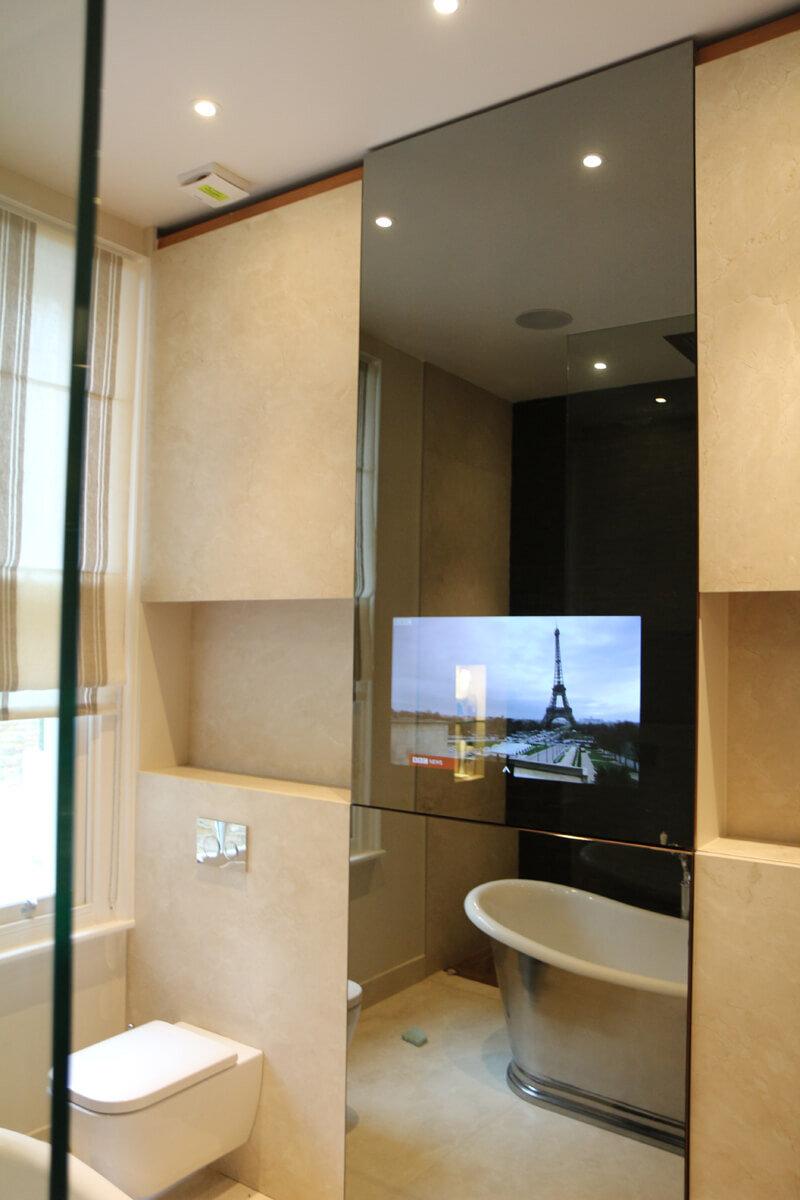 Built In Wall Mirror Tv Mirror