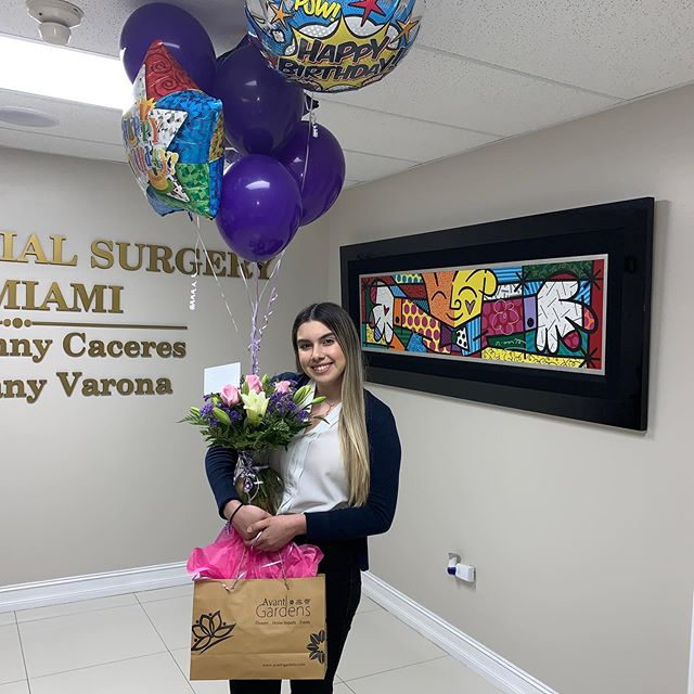 Happy 20th birthday Jennifer. We are blessed to have you as part of our team. We wish you the best!!! #happybirthday #birthdaygirl #birthdaycelebration #love #happiness #teamwork #oralfacialsurgerymiami