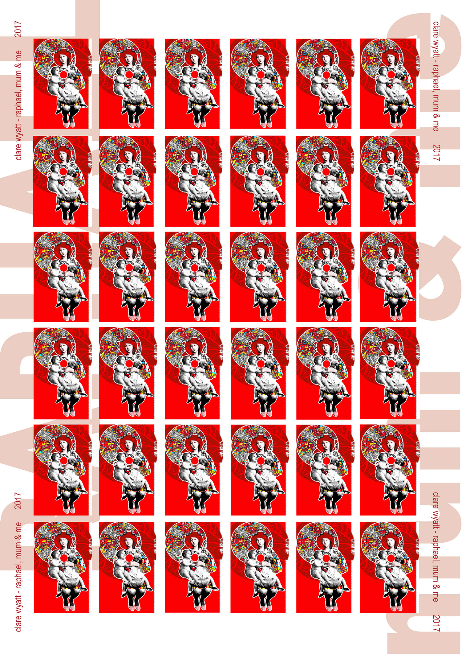 raphael, madonna and me stamps