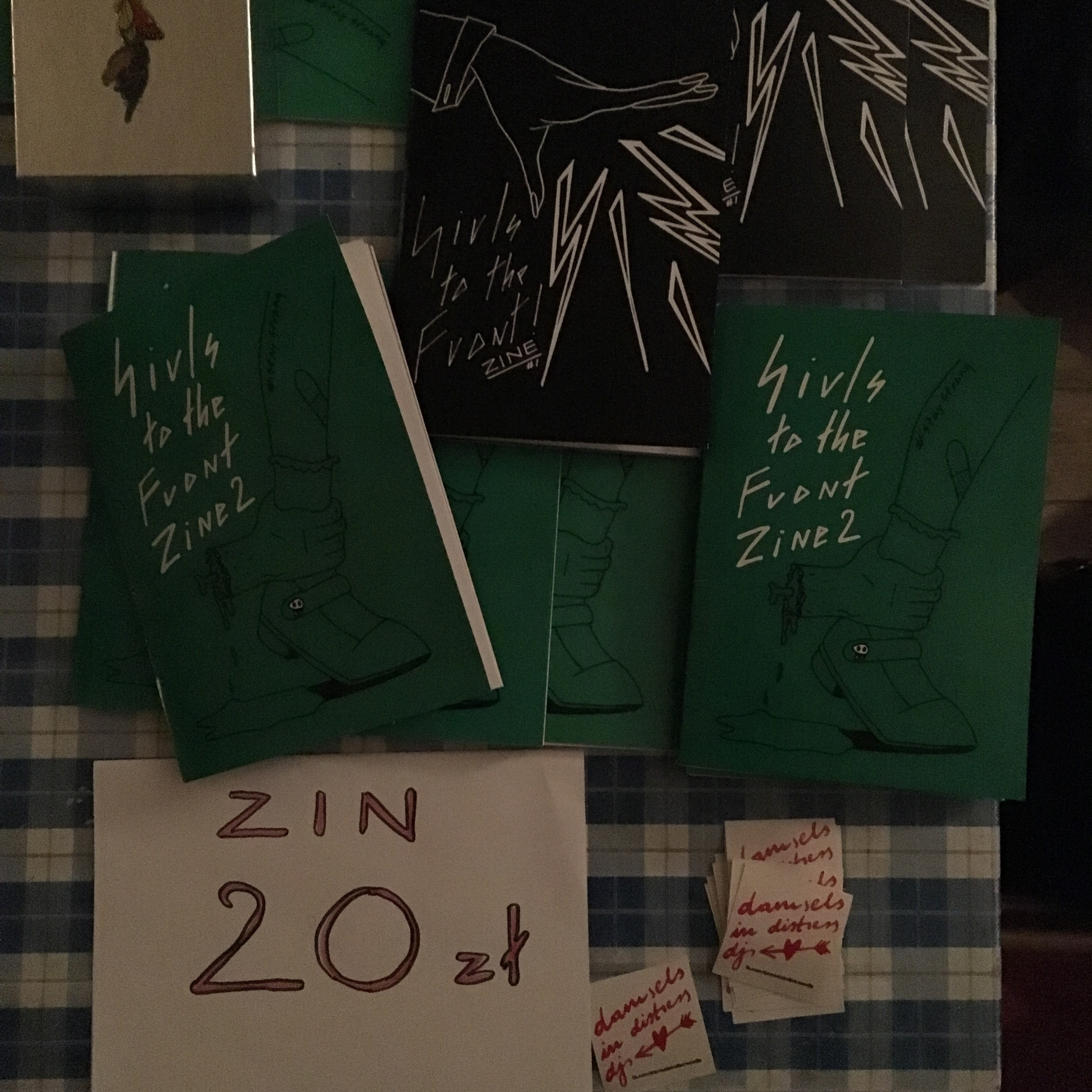 The Girls to the Front Zine is a feminist publication featuring written and visual art by Polish women. The editor of the zine is a girl named Ola who helps throw a party by the same name. Her parties feature live music by female musicians, who she says are underrepresented in Polish society.