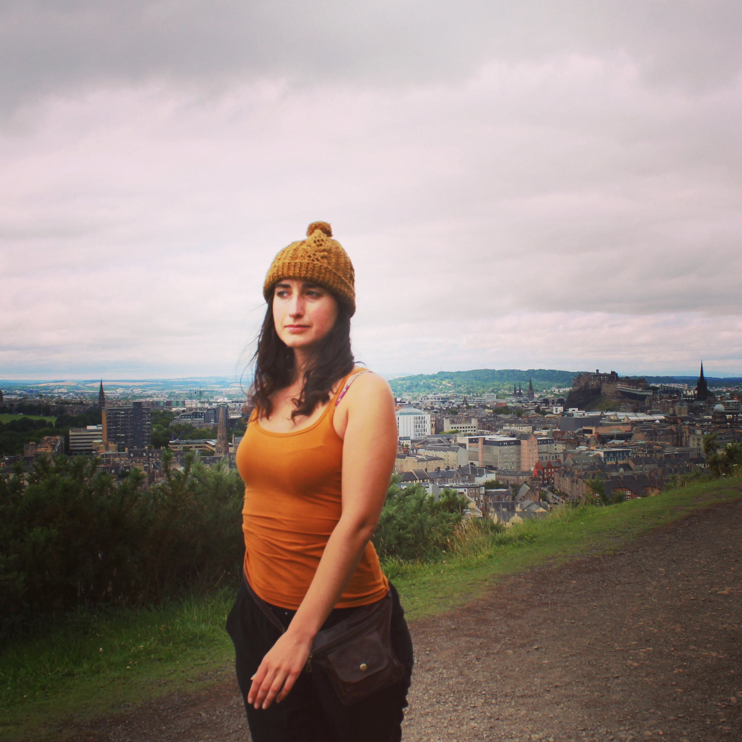 La Shaguita during a trip to Edinburgh, Scotland