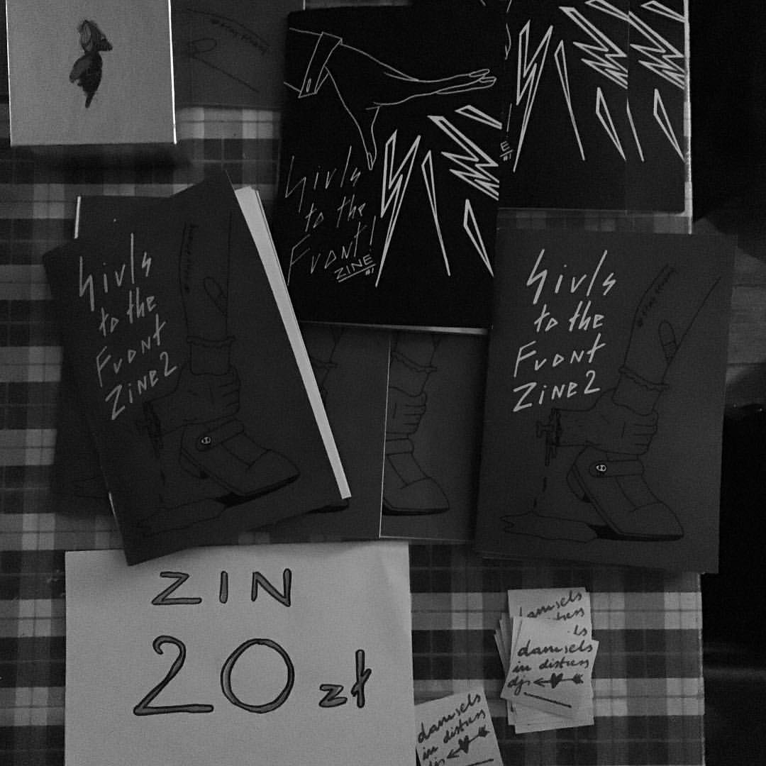 Girls to the Front, a girl Zine in Warsaw, Poland featuring writing and art by local lovelies.The editors also throw a bi-monthly girl party with music from local girl bands and DJs. When I got to Poland I thought I'd have a hard time meeting fellow lesbis but I was amazed at how many lady-loving ladies I ended up meeting.