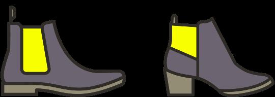 Shoe elastic gusset repairs
