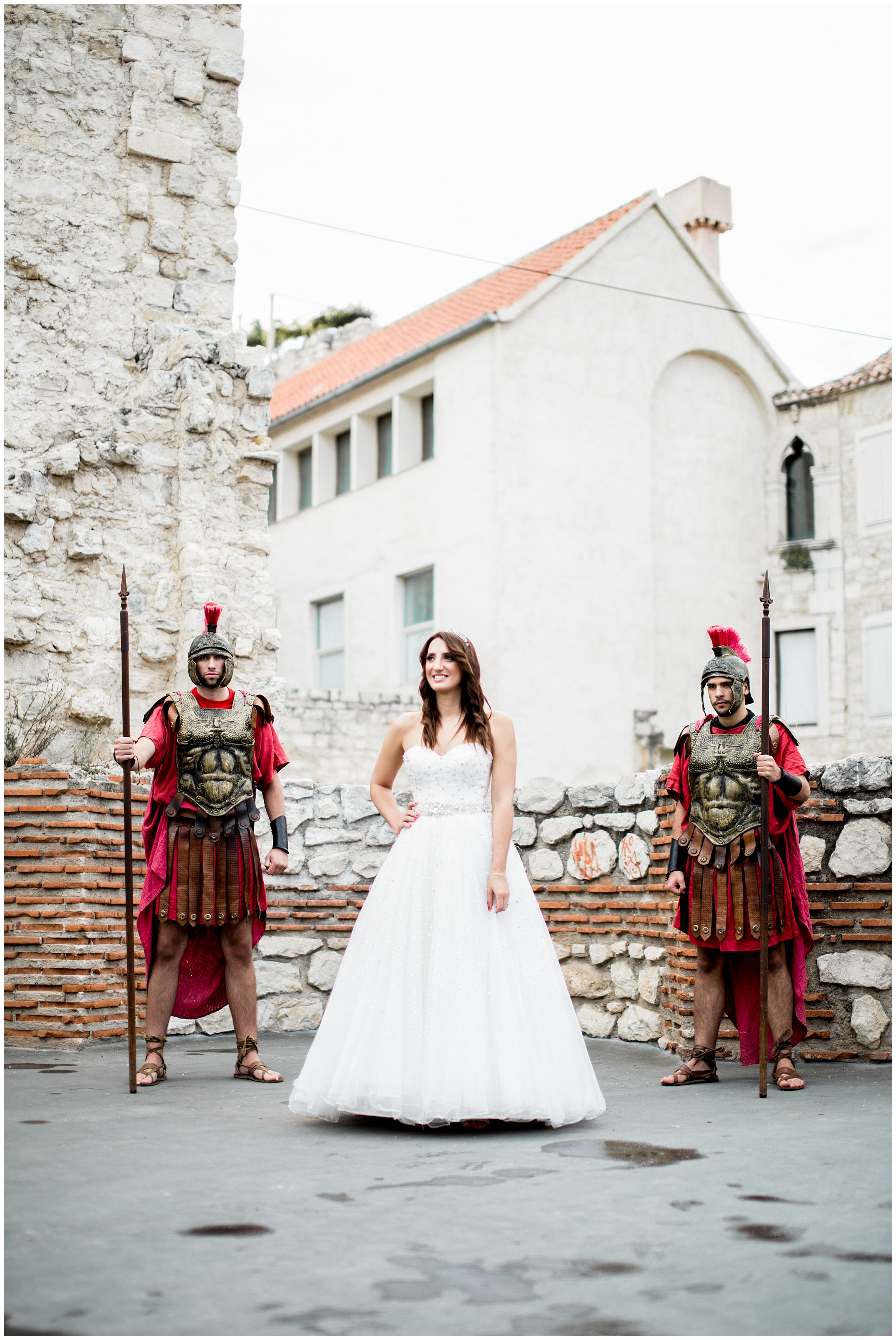 bride with guards