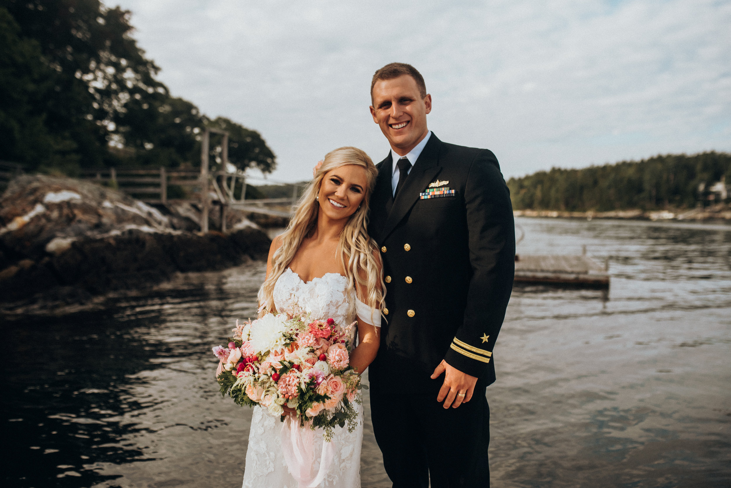 Hope & Christopher - We used Anika at Bad Rabbit Flowers for my daughter's wedding on September 15th at Grey Havens Inn, Georgetown, ME. I can't tell you how absolutely gorgeous the flowers were. EVERYONE had a