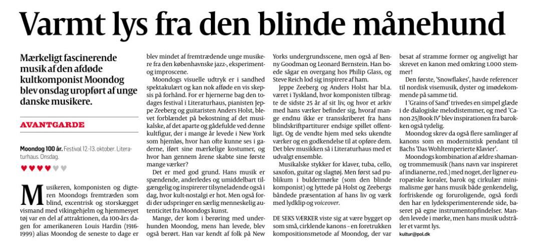 Review in Danish newspaper Politiken