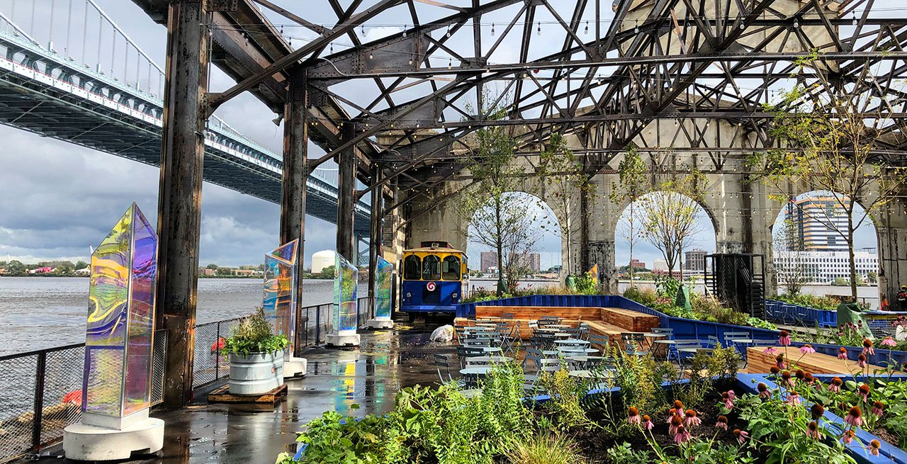 The Cherry Street Pier is a large renovated outdoor area with spaces for rent. Hold your next launch party or corporate event at this picturesque historical landmark.