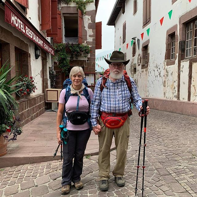 These are my parents. They are hiking 500 miles in the next two months. On the Camino in Spain (or they just crossed over from France). I am very proud of them and hope I get to follow in their footsteps someday. #seventiesarethenewtwenties #myparentsarecoolerthanme #ikeepsingingthatsongfrombennyandjoon