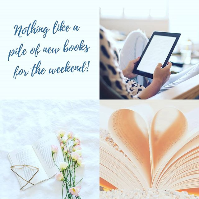 What's everyone reading this weekend? Head over to my blog (Head Over Heels, link in bio) to see what I'll be digging into. One clicking is either my superpower or my weakness. 😎😉