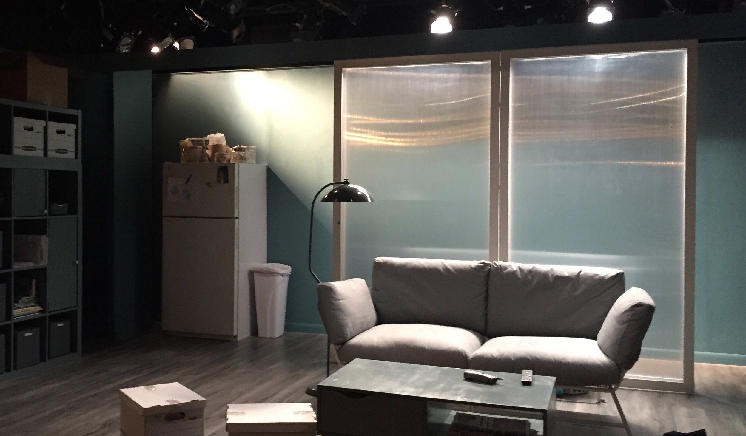 The aftermath of the play at the Cherry Lane - great use of stage props to focus the audience's attention.