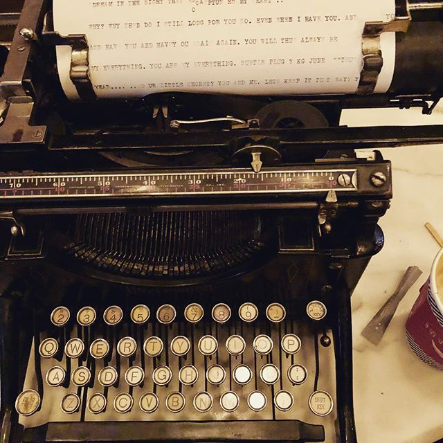 Getting some work done..not..😉 #playday #chelsea . . . #playful #fun #typewriter #oldtimey #masculine #bamf #king #writer #author #novelist #best #leader #love #readeverywhere #write #amwriting #cool #neat #50words