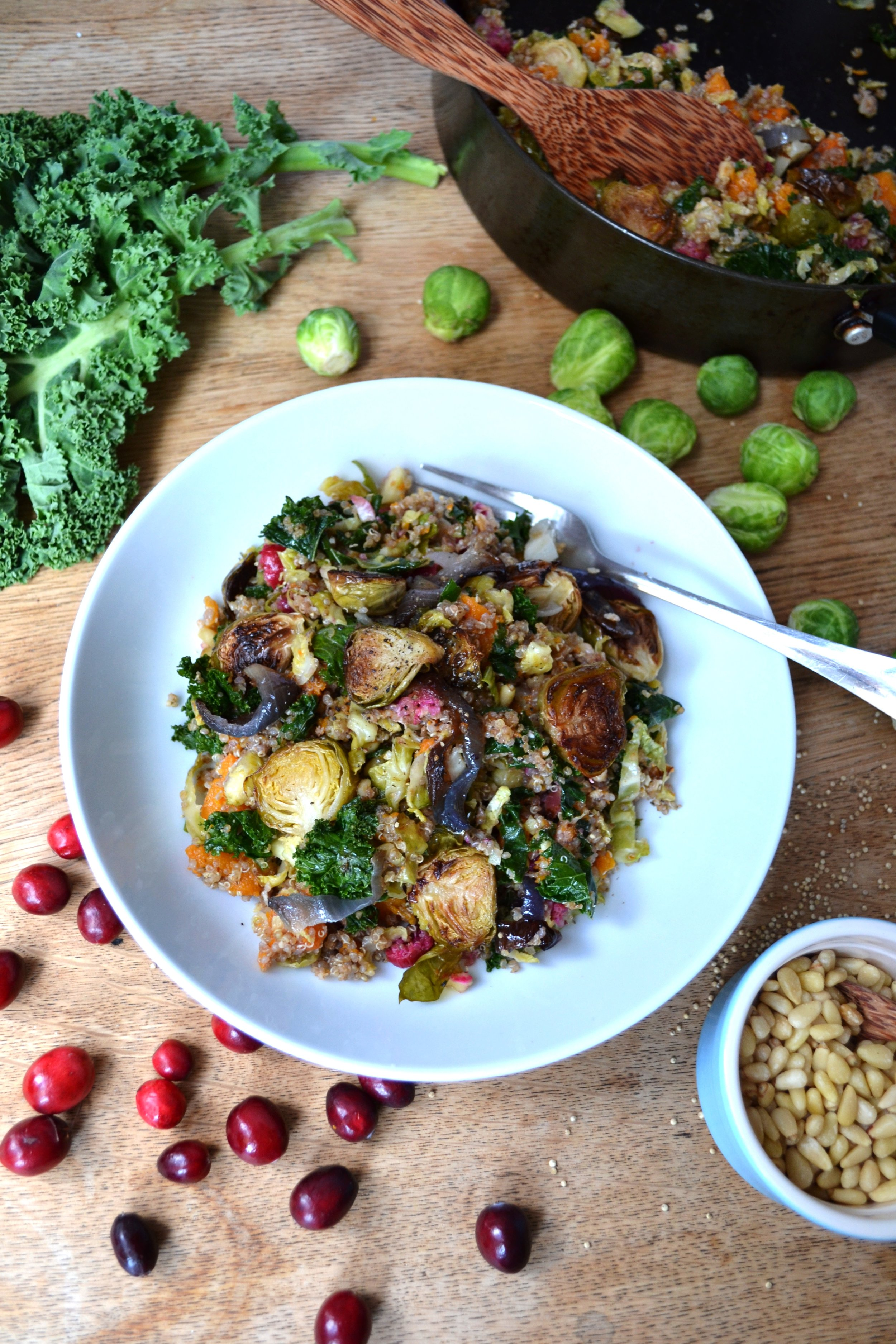 Brussels sprouts quinoa | The Flourishing Pantry | yeast free diet