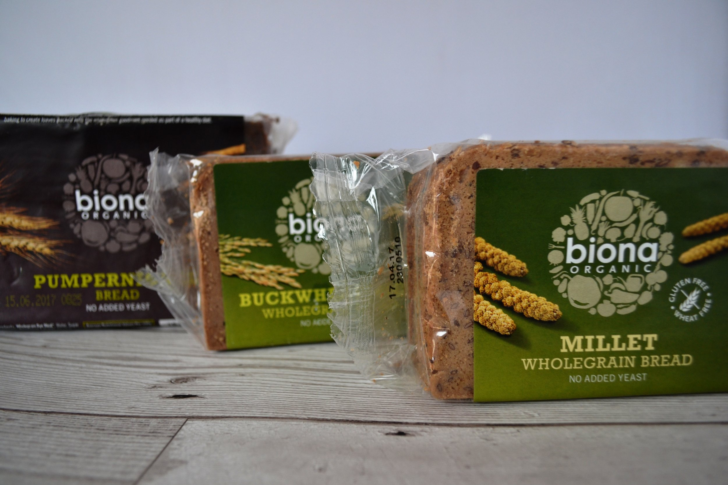 Three breads up for the Tried & Tested challenge this week, all from  Biona.