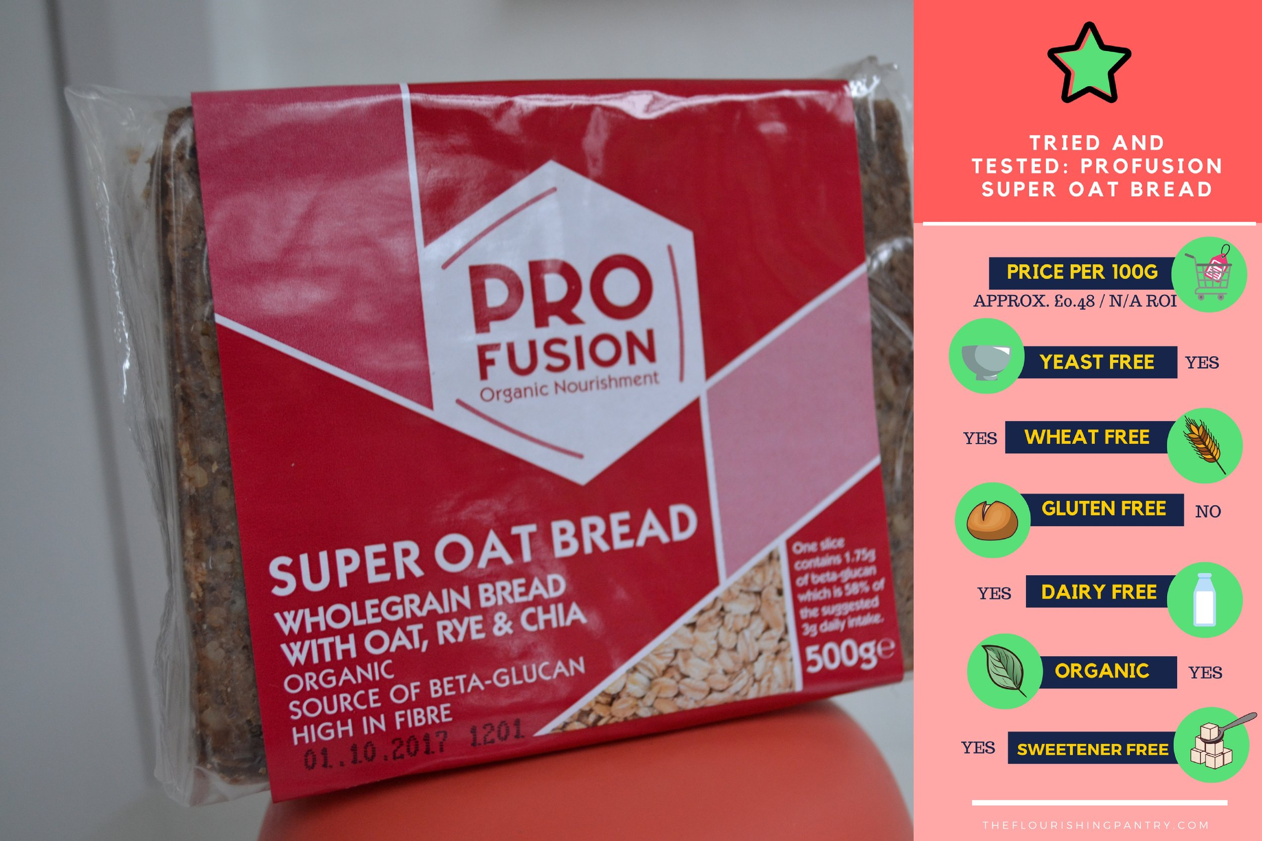 Profusion Oat Bread | The Flourishing Pantry | yeast free diet blog