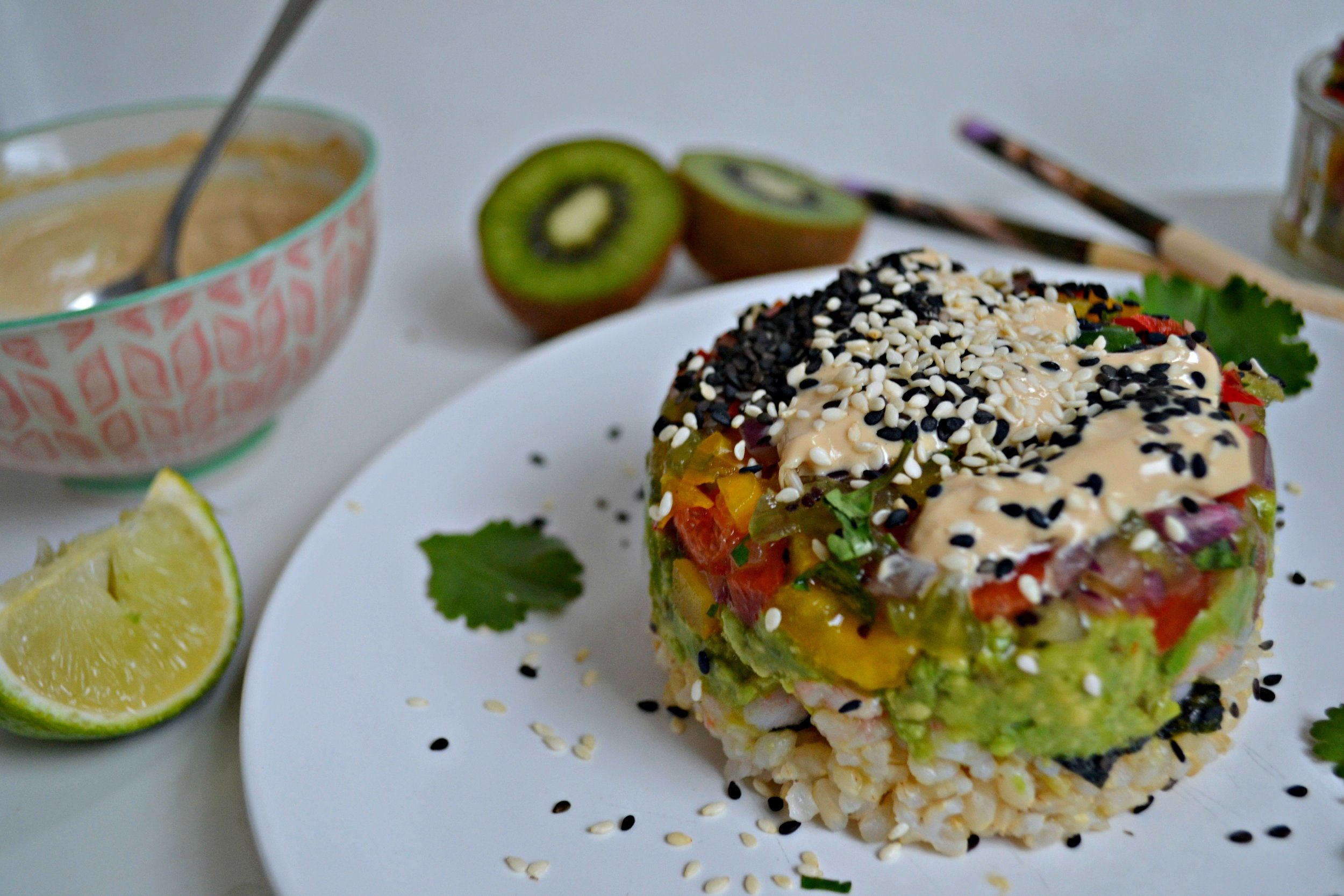 Sushi Shrimp Stacks | The Flourishing Pantry | yeast free diet blog