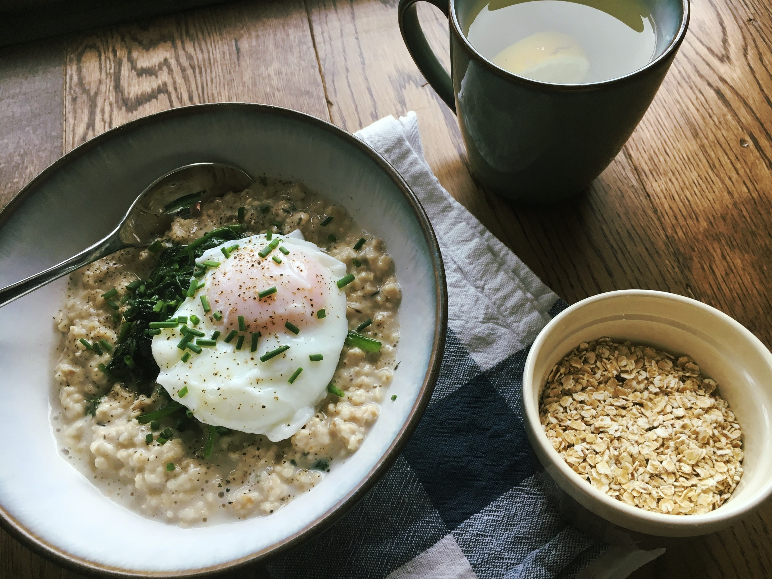 Savoury porridge recipe | The Flourishing Pantry