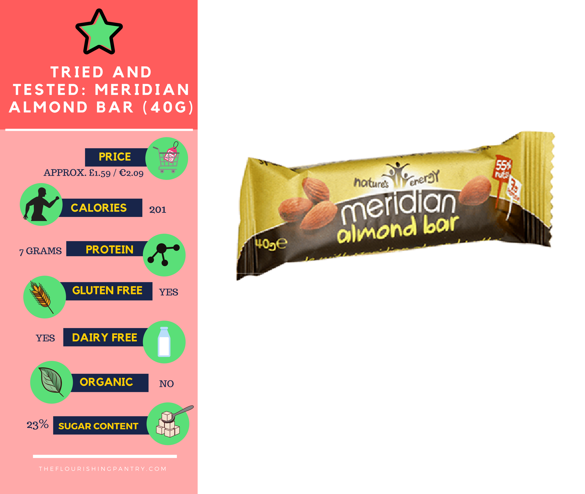 Meridian Almond Bar review | The Flourishing Pantry