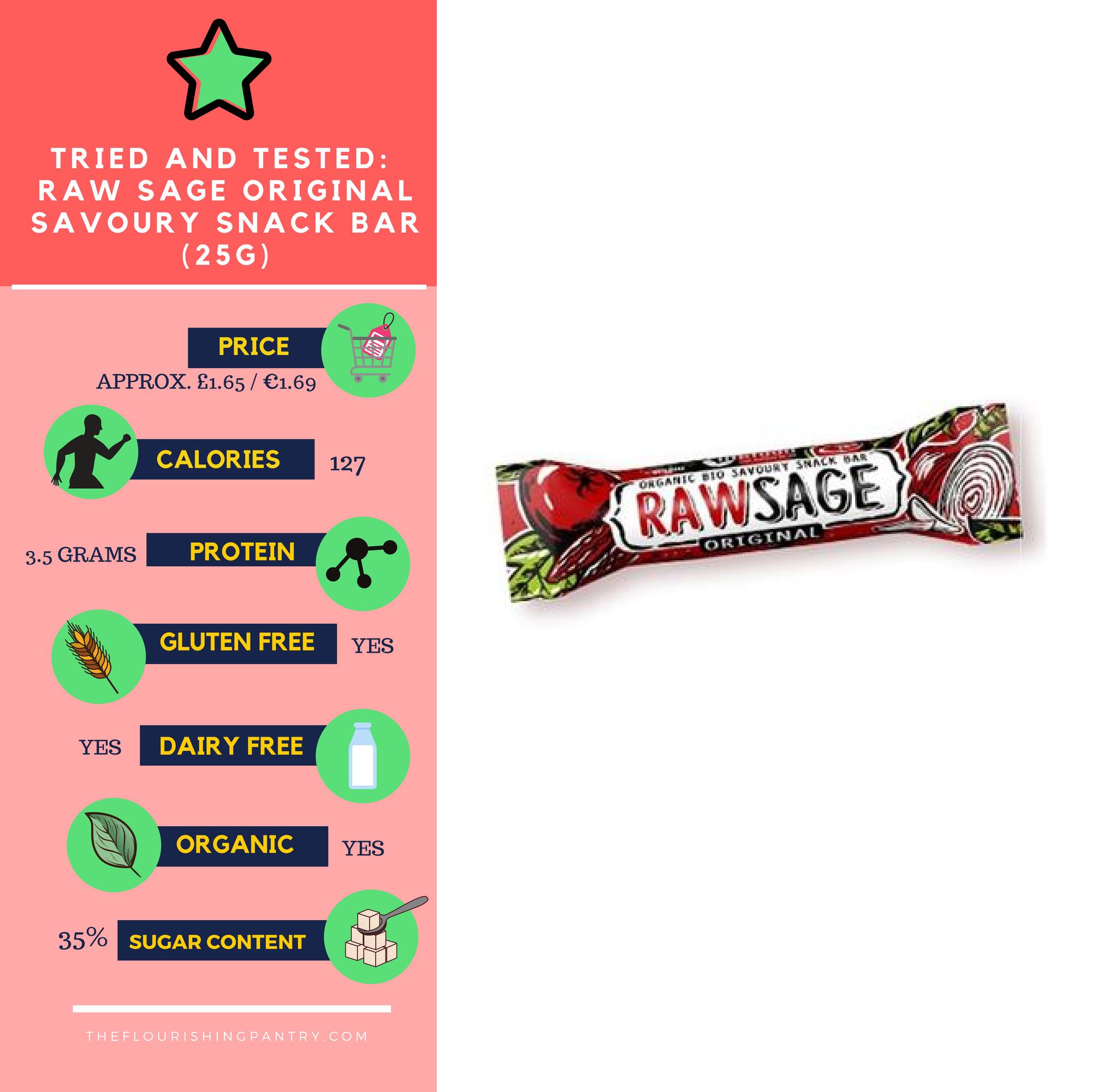 Raw Sage bar review | The Flourishing Pantry