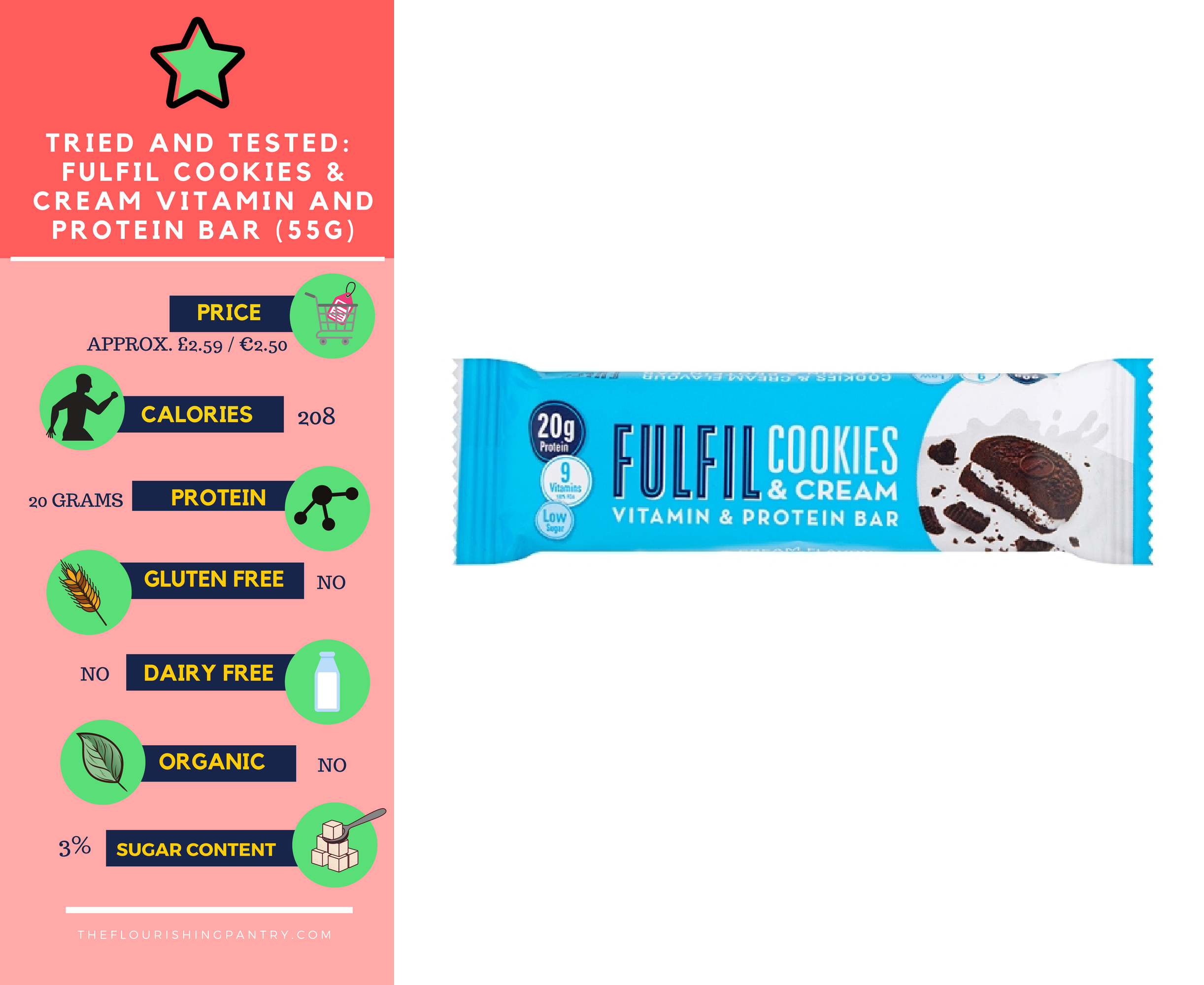 Fulfil Cookies & Cream | The Flourishing Pantry