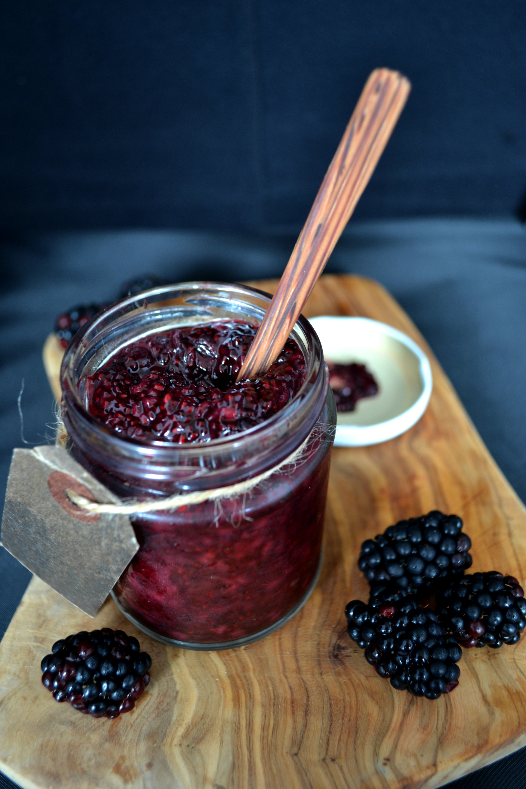 Blackberry almond chia jam | The Flourishing Pantry | healthy eating recipe blog