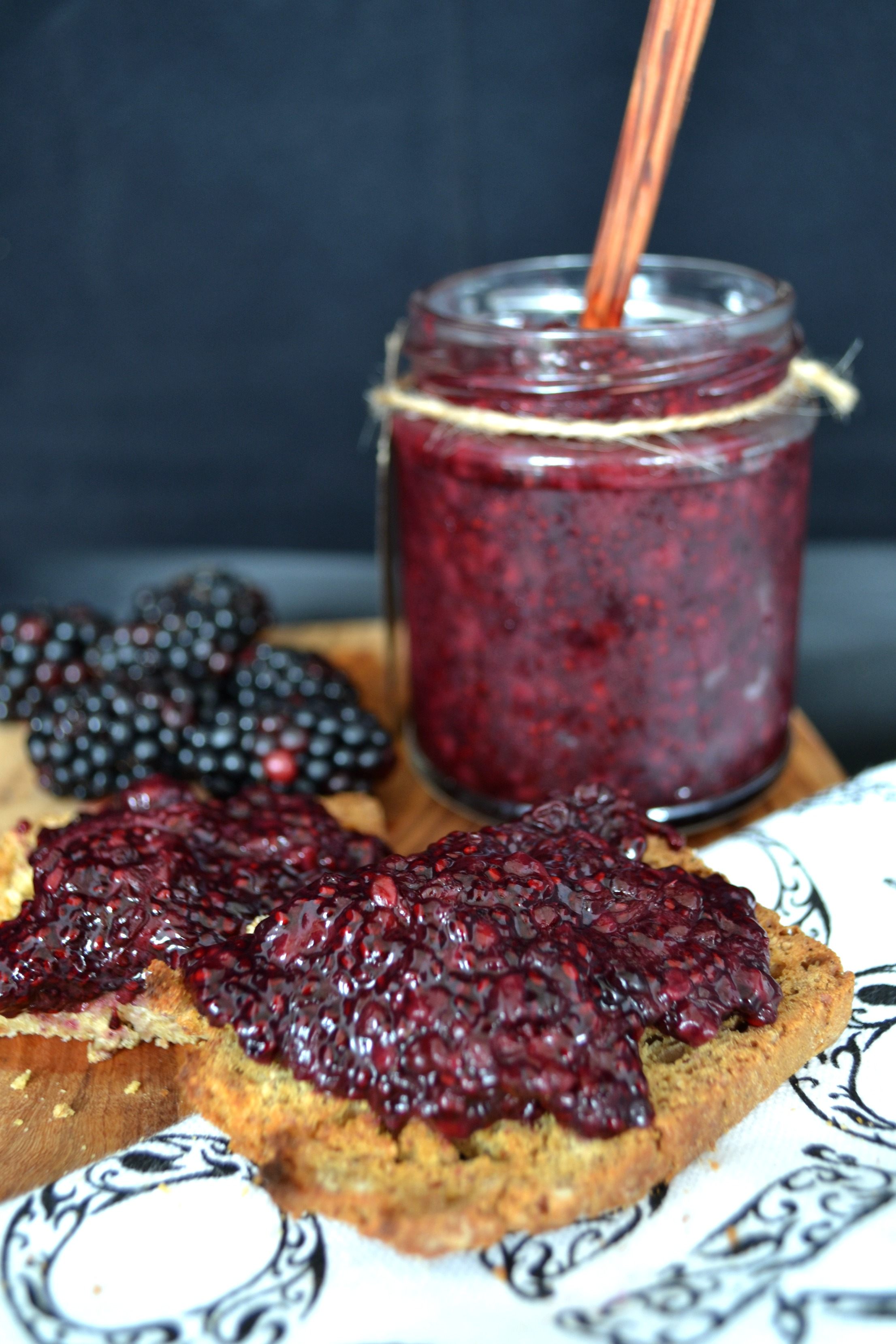 Blackberry and almond chia jam | The Flourishing Pantry | healthy eating recipe blog