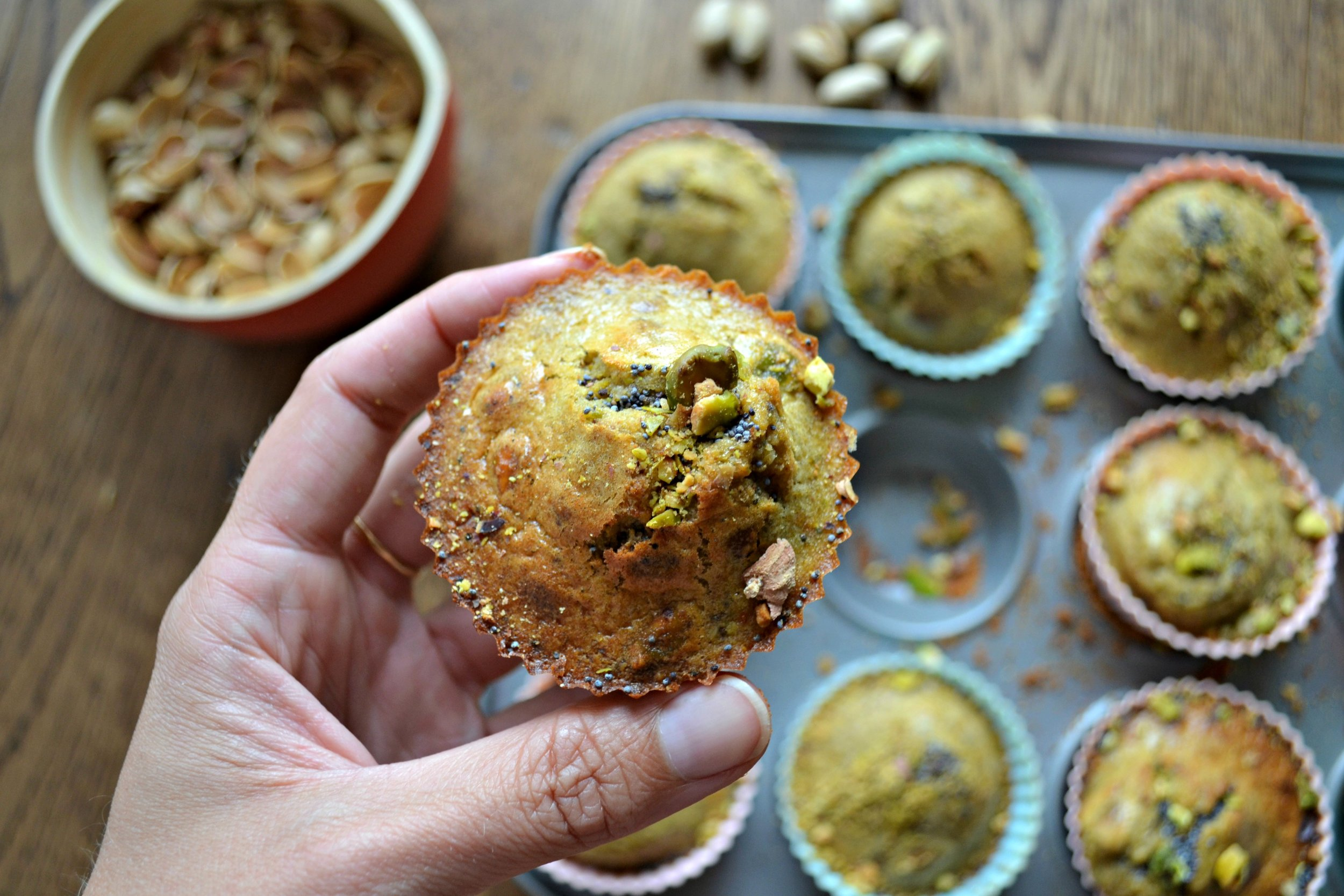 Pistachio and orange muffins | The Flourishing Pantry