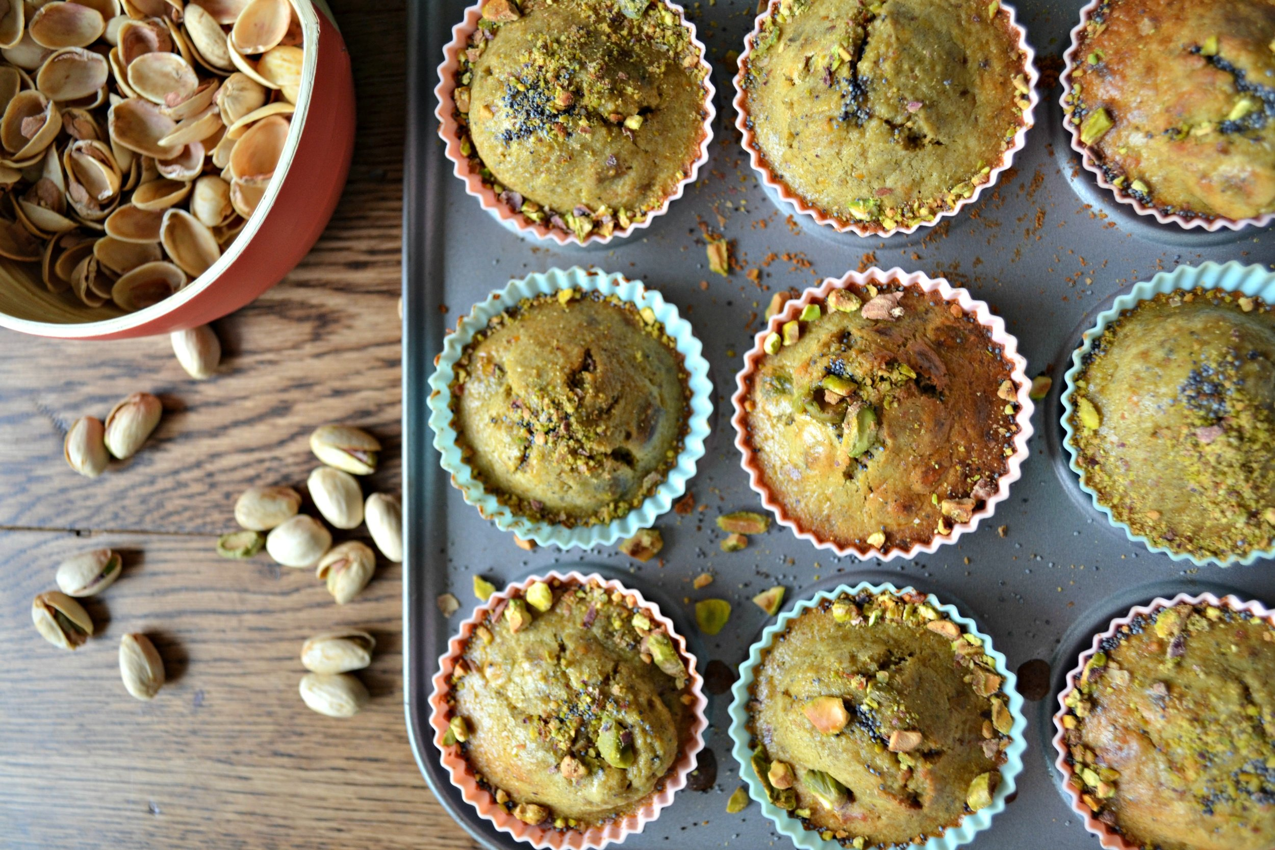 Pistachio and orange muffins | The Flourishing Pantry | healthy eating recipe blog