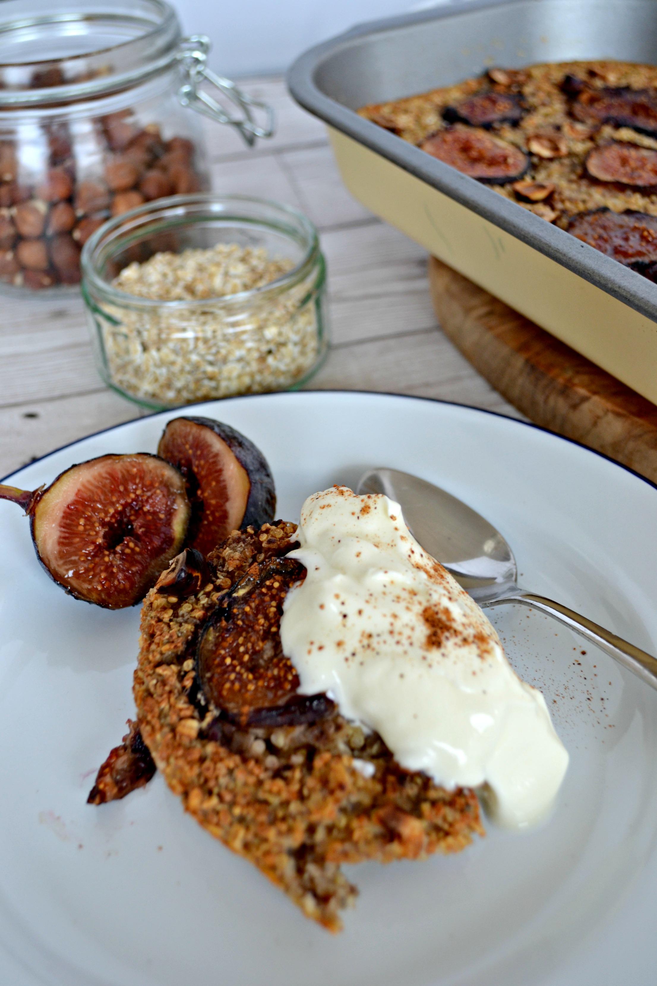 Baked fig and hazelnut oatmeal   The Flourishing Pantry   healthy eating recipe blog
