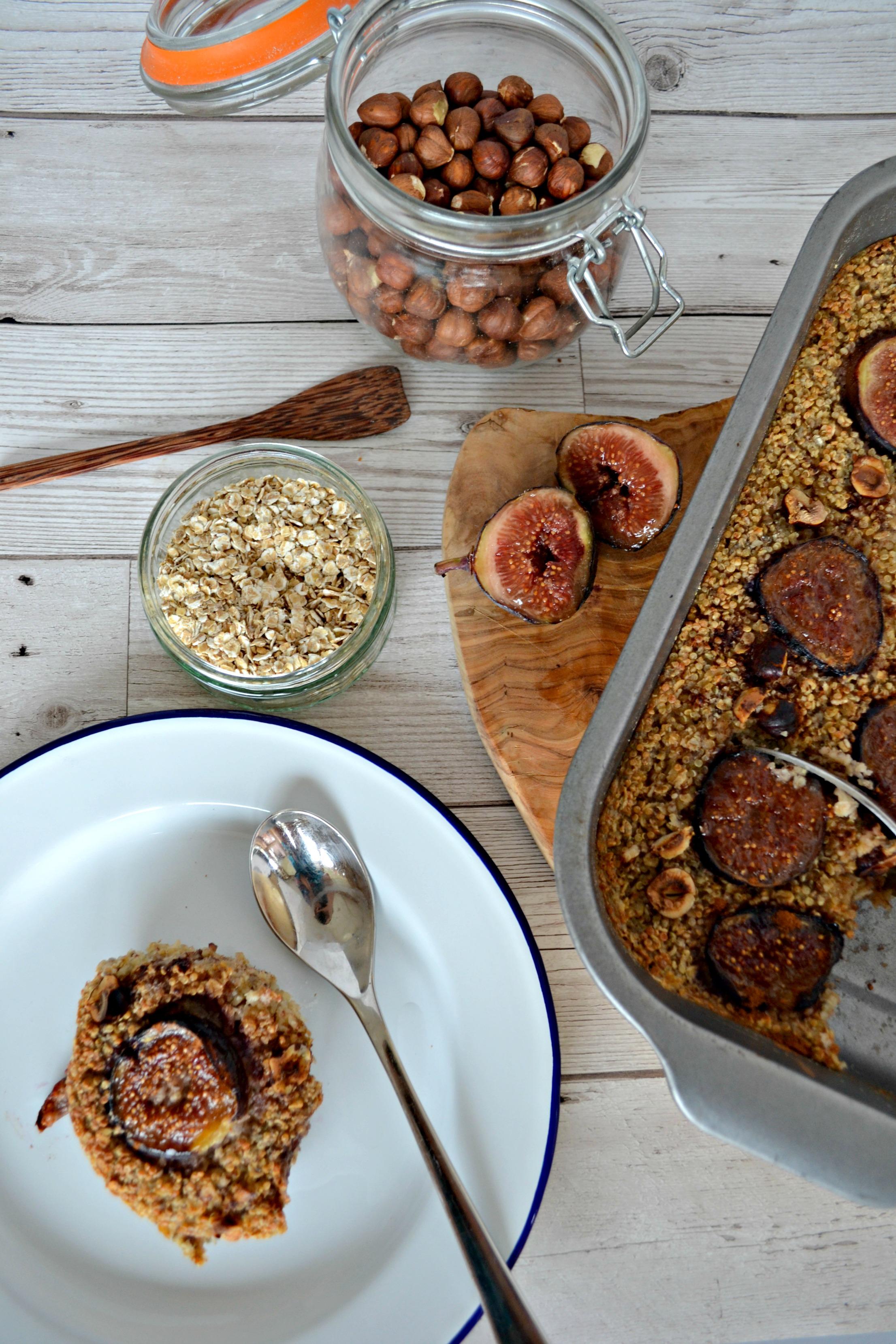 Baked fig and hazelnut oatmeal   The Flourishing Pantry   healthy eating food blog