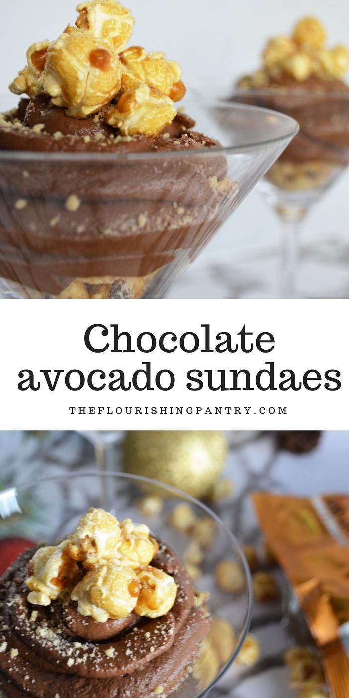 Free'ist chocolate avocado sundaes | The Flourishing Pantry