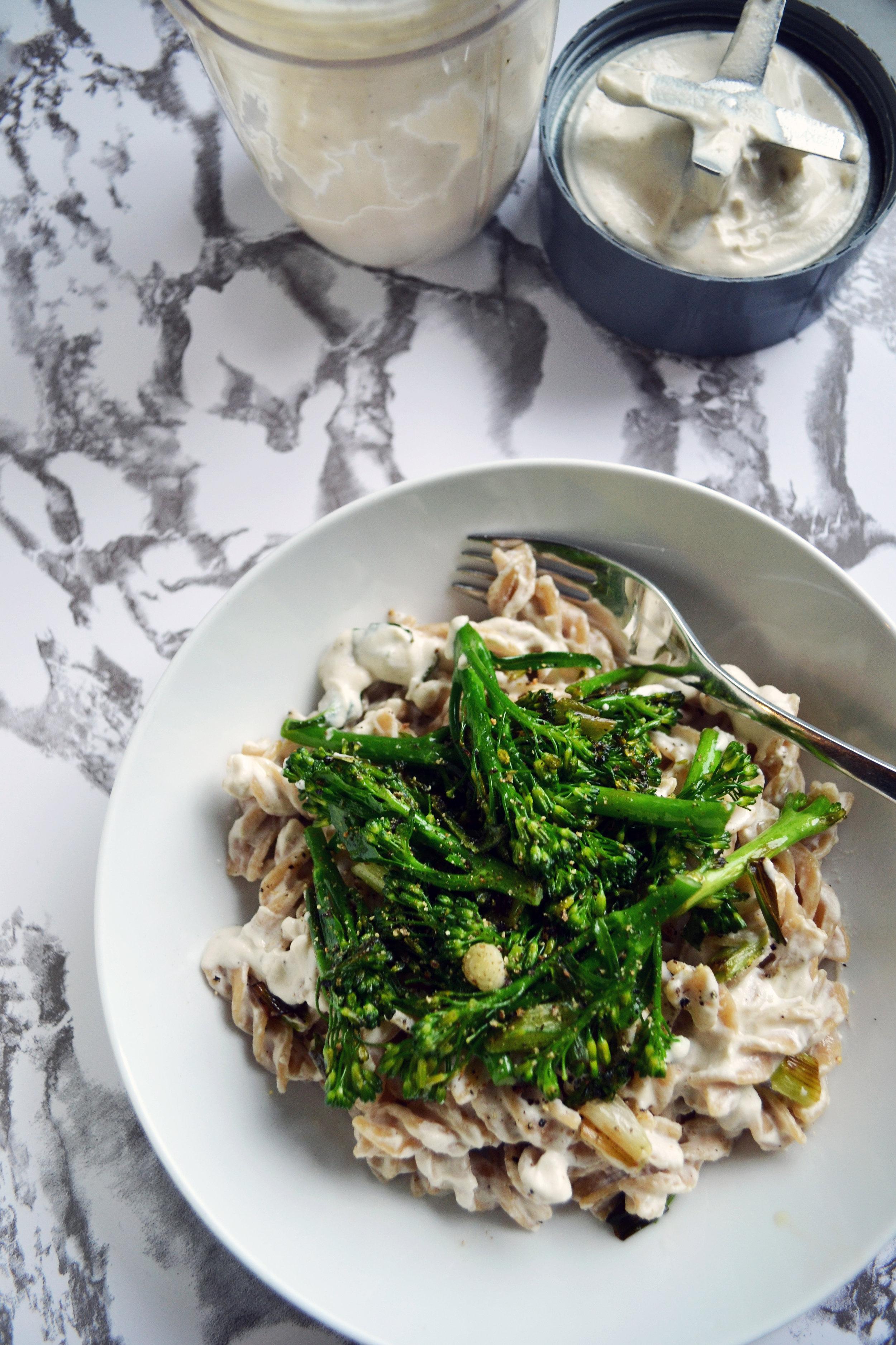 Cashew cream pasta sauce recipe | The Flourishing Pantry