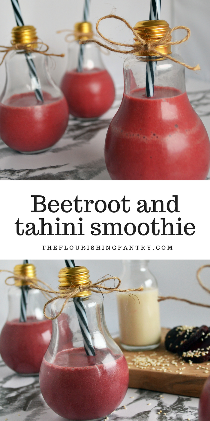 Beetroot and tahini smoothie | The Flourishing Pantry