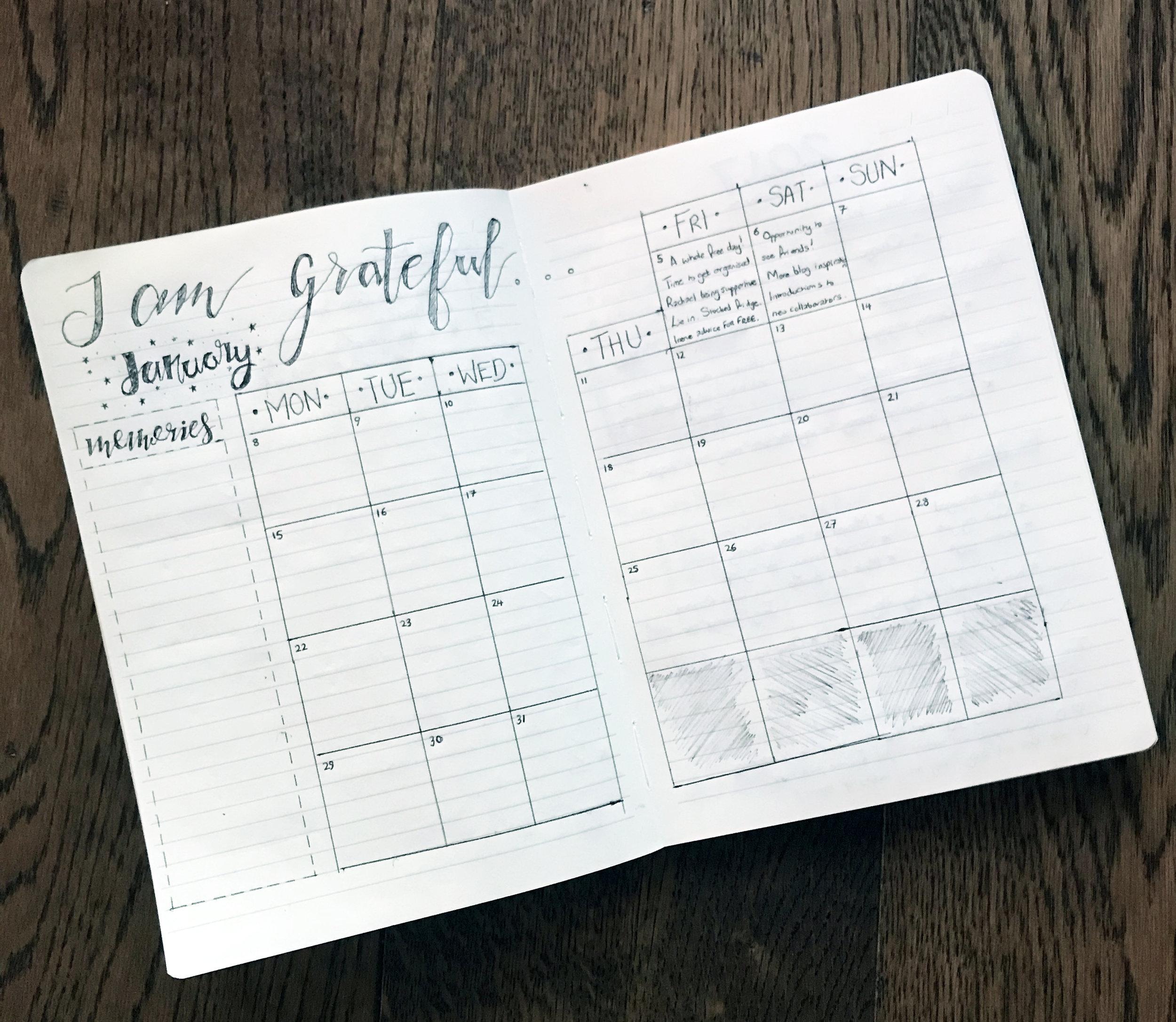 My own hand-drawn gratitude journal