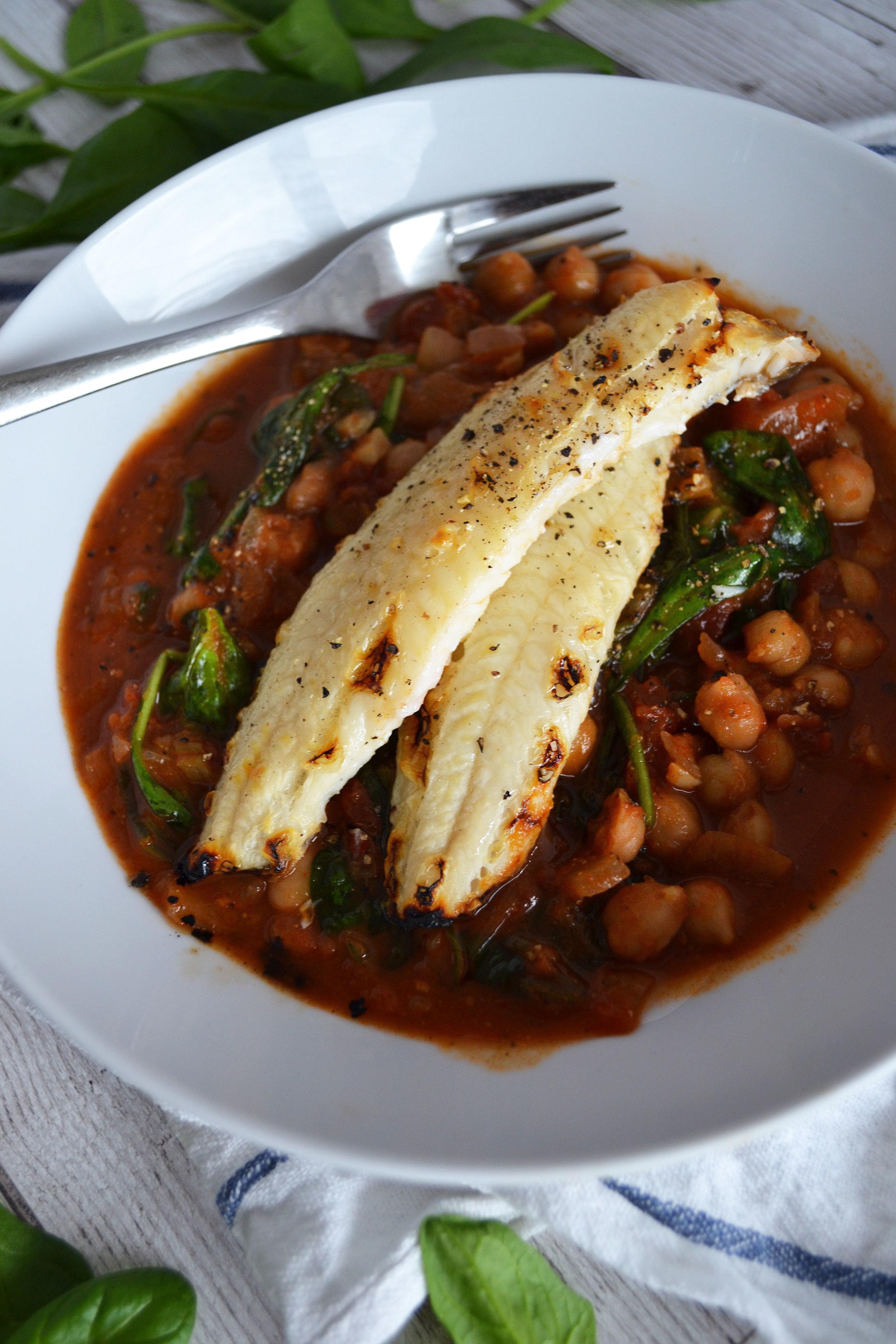 Haddock and chickpea stew | The Flourishing Pantry
