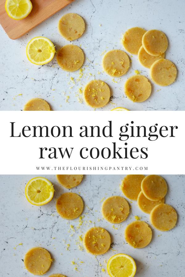 Lemon and ginger raw cookies | The Flourishing Pantry