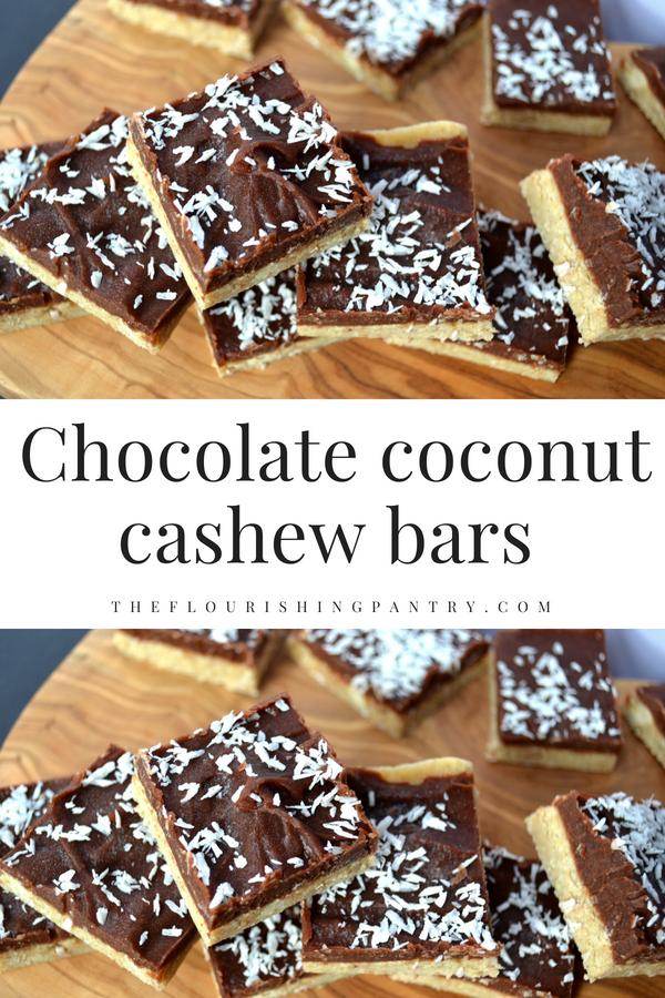 Chocolate coconut cashew bars | The Flourishing Pantry.png
