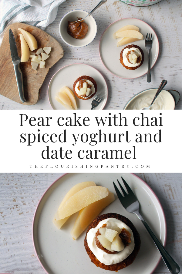 PINTEREST | Pear cake with chai yoghurt | The Flourishing Pantry.png
